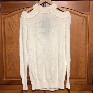 Cold Shoulder Knit Sweater